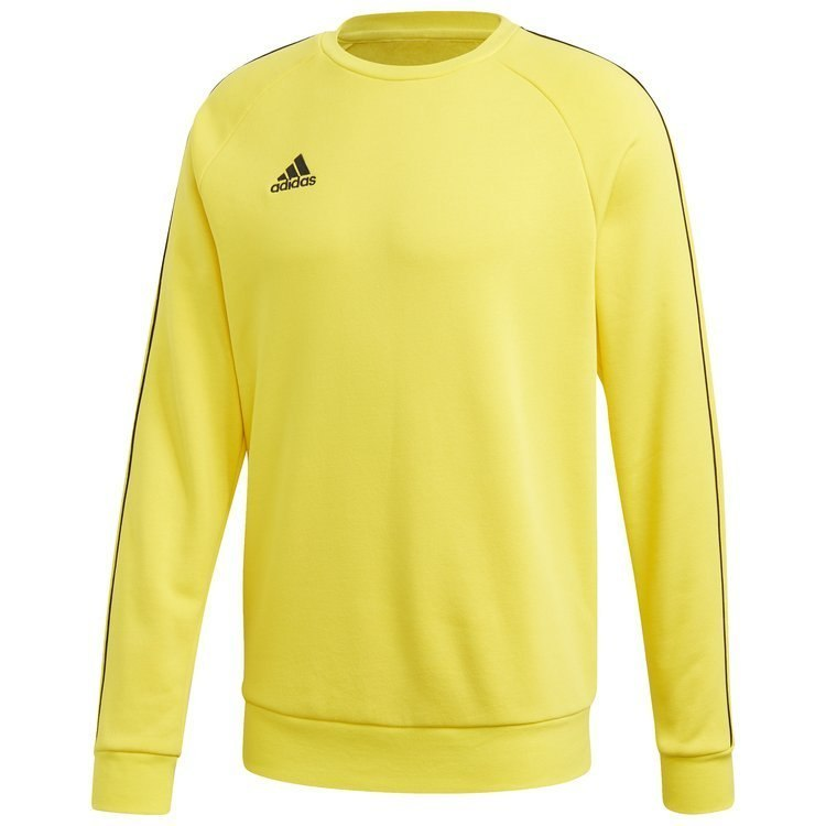 Bluza męska adidas Core 18 Sweat Top żółta bez kaptura